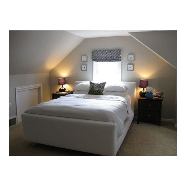 small bedrooms with low slanted ceilings