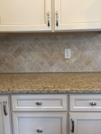 Travertine Baja Cream Tumbled T720 3x6 in herringbone ...