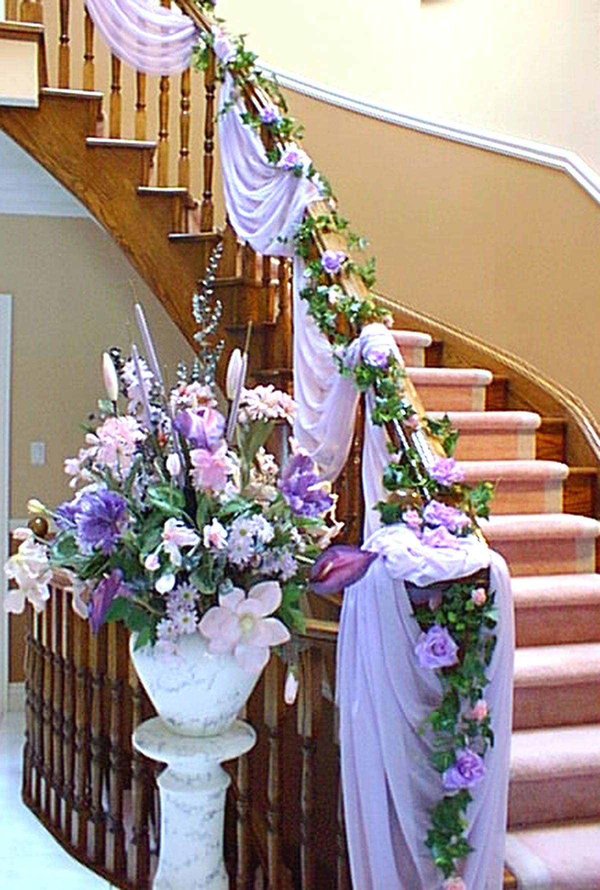 Decoration Escalier Mariage Recherche Google Fleurs Mariage