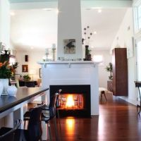 see through center of room fireplaces | Free standing see ...