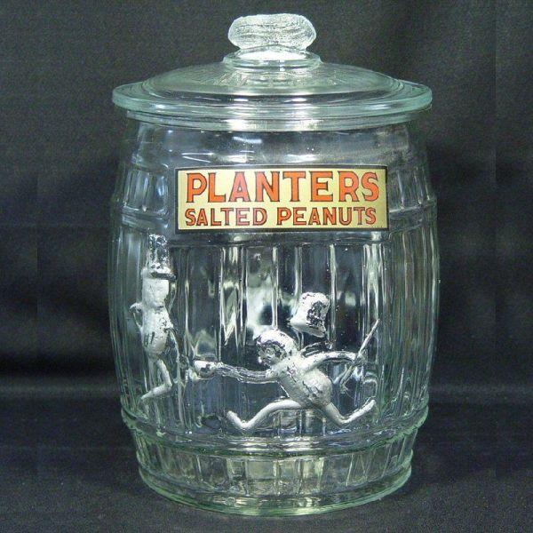 1935 Planters Peanut Barrel Jar Nlevycollectibles