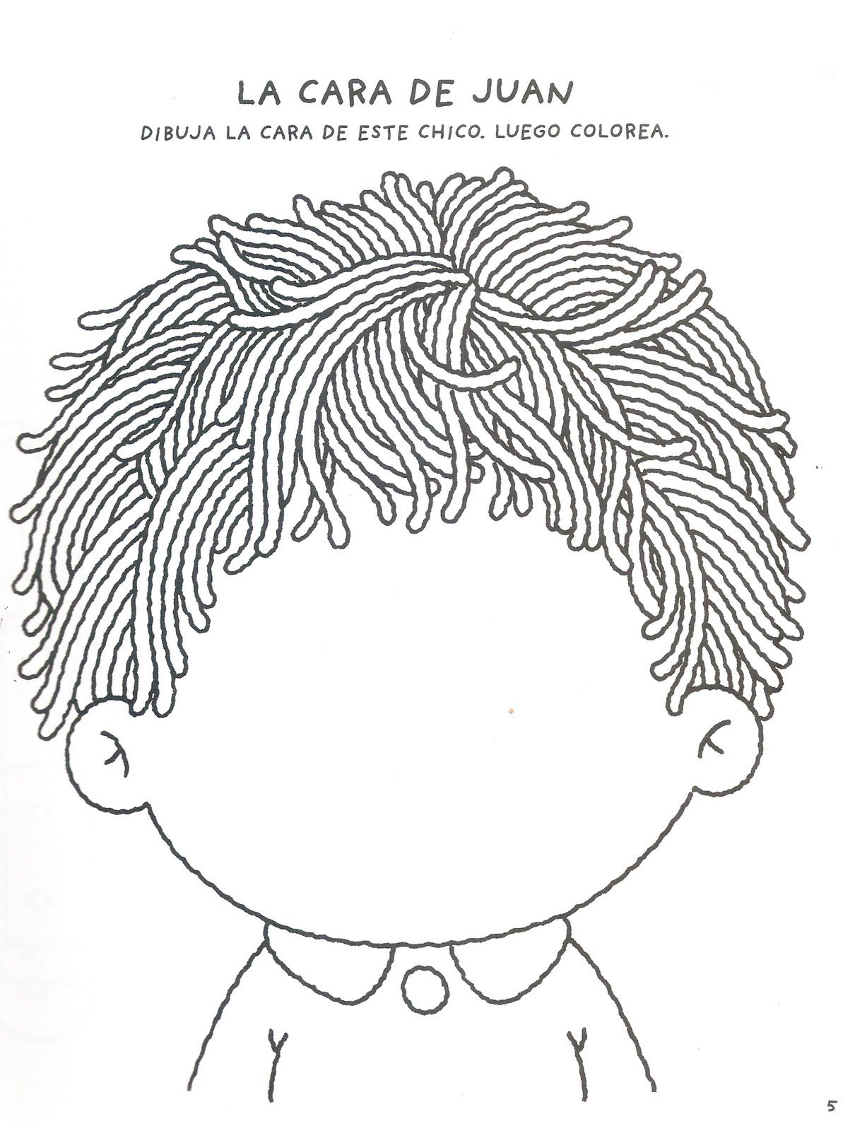 Kleur De Haartjes Ogen Neuzen En Monden Uitknippen En Op Laten Plakken