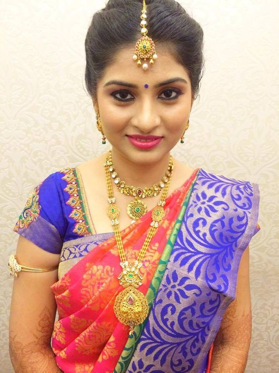 South Indian Bridal Hairstyles For Engagement #BridalHairstyle