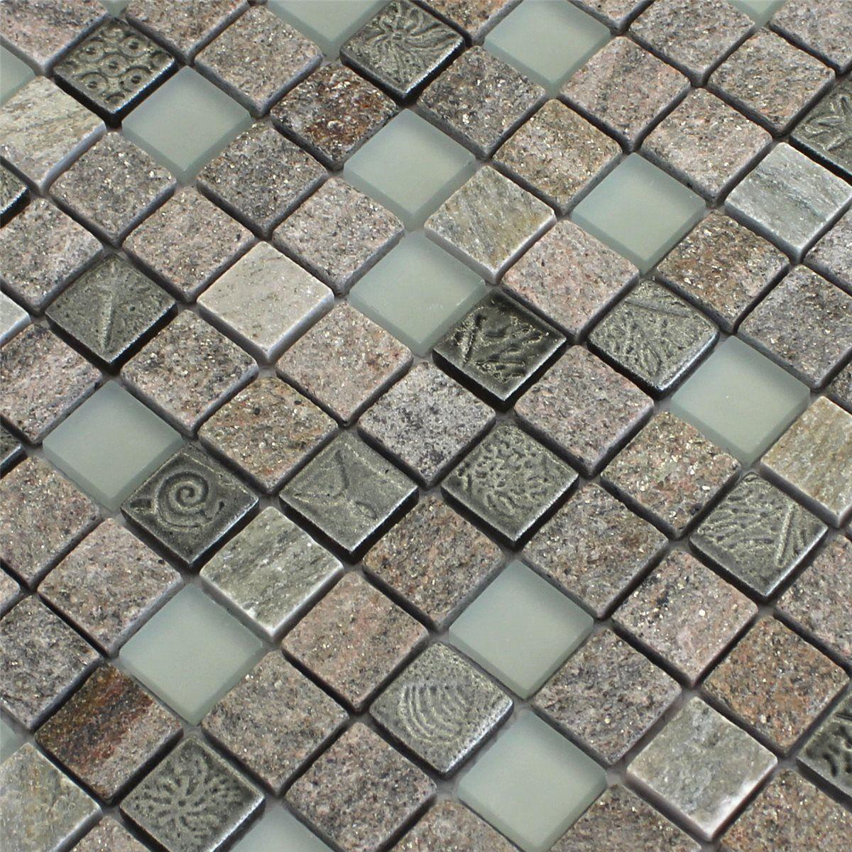 naturstein mosaik fliesen verfugen   naturstein kupfer mosaik metall