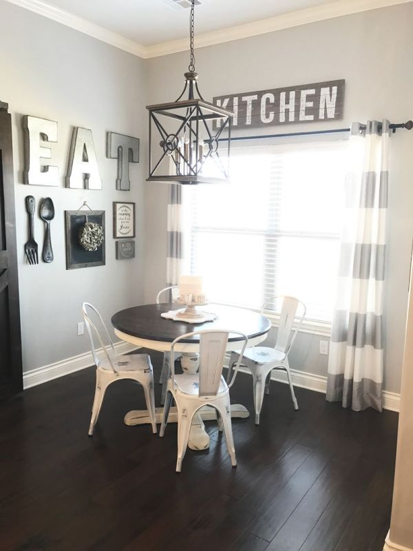Dining Room Wall In Farmhouse Style