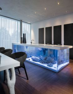 House also this kitchen island is  giant aquarium  creative in home rh za pinterest