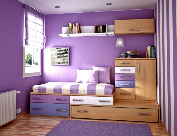 Bedroom design charming purple girls ideas furniture for teenage with violet wall color and wooden also the most brilliant comfortable teens room small space rh pinterest