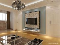 Gypsum Board TV background wall renovation renderings TV ...
