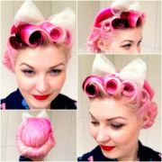 victory rolls with pony tail