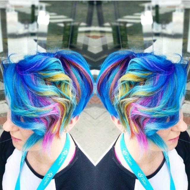 Fresh Young Fabulous Mermaid  hair  Rainbow hair  Unicorn