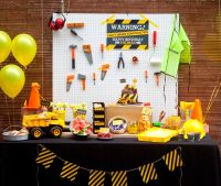 1st Birthday Party Ideas For Boys | Construction party ...