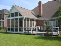 pictures of decks with screened porches | Large screen ...
