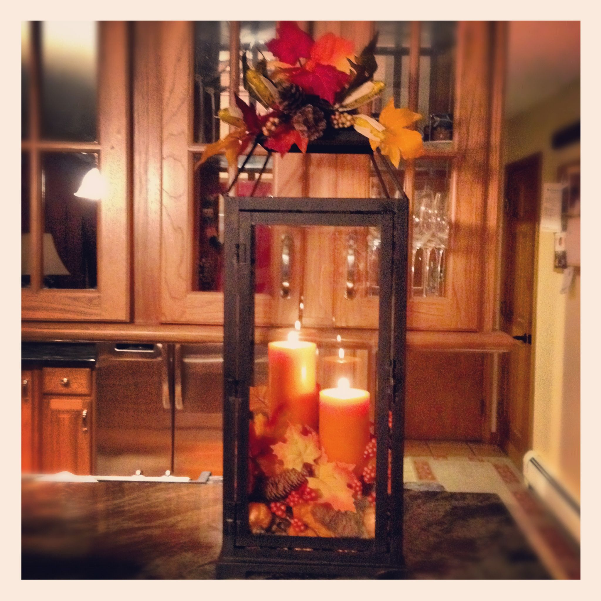 Fall Decor Ideas  good idea for kitchen table centerpiece