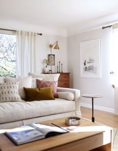 House also our sun filled living room with warm woods and white coco kelley rh pinterest