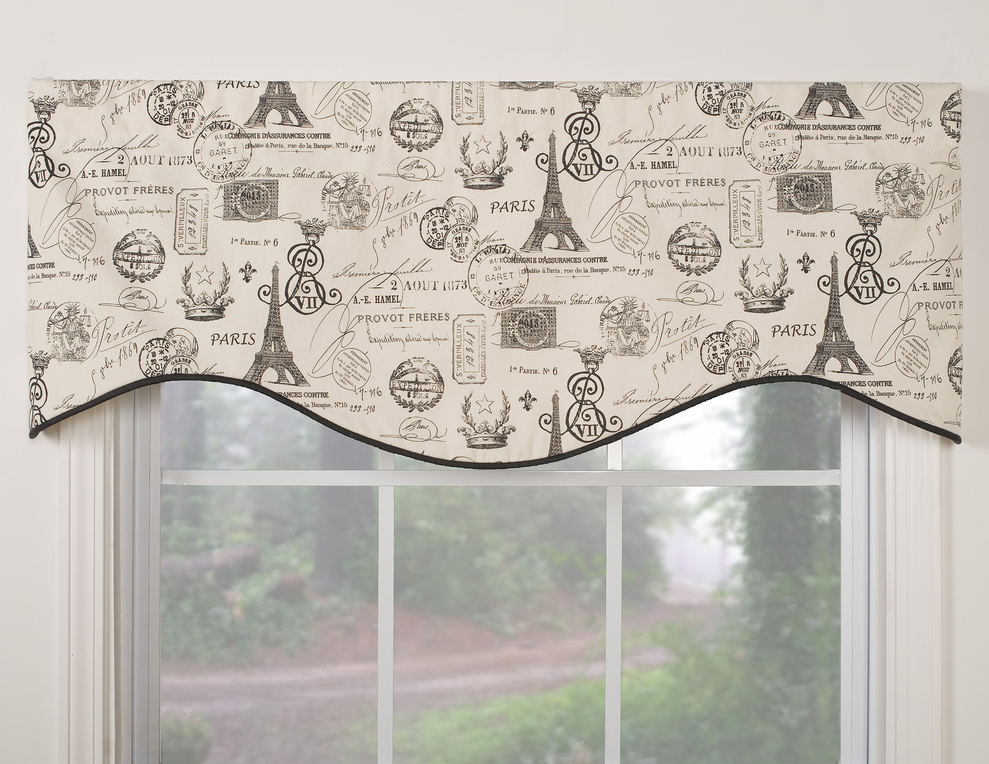 mallorca 18-inch beaded window valance | valance, window and room set