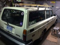 Volvo 245 with Quick & Easy Roof rack Roof Rack Volvo 240 ...