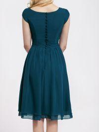Winter Color Bridesmaid Dresses | Cap Sleeve Chiffon ...