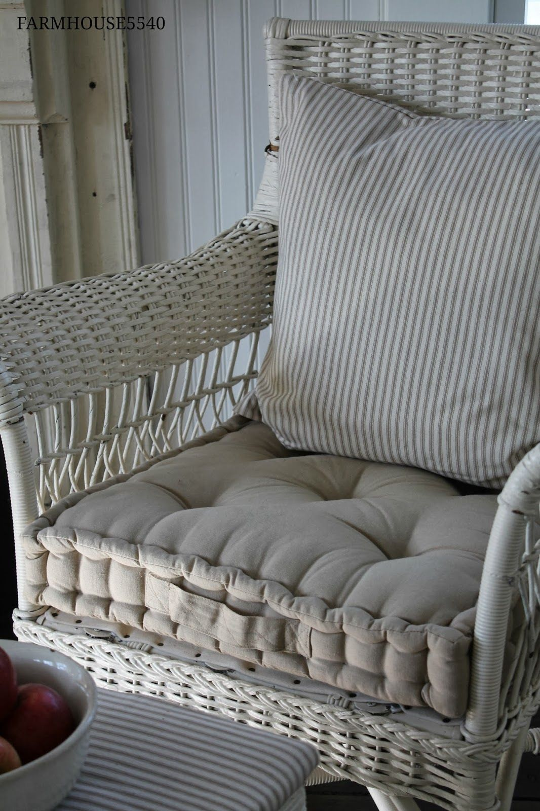 french country kitchen chair cushions black king throne mattress made from ticking for the rockers