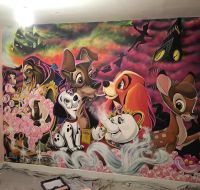 This Artist Dad Painted A Huge Disney Mural For His ...