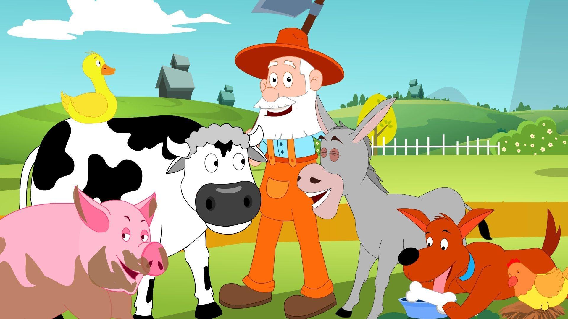 Old Macdonald Had A Farm Nursery Rhyme With Lyrics