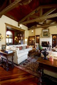 An elegant, hacienda-style great room in a Northern ...