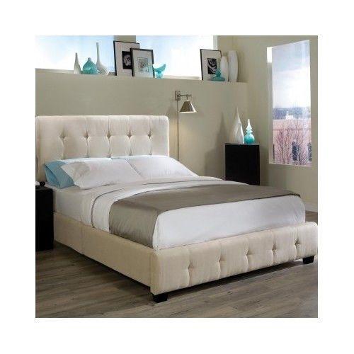 Platform Bed King Size Headboard Upholstered Modern Frame Furniture Mattress Set