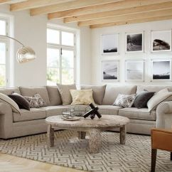 Grey Tweed Sectional Sofa Baxton Linden Bed Pearce Upholstered 3-piece L-shaped Sectional, Down-blend ...