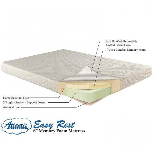 6 Memory Foam Bunk Bed Mattress Twin Or Full