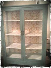 Cabinet with chicken wire doors | Furniture and shelves ...