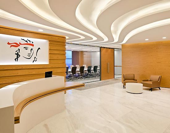 Lighting Office Reception Interior Design Office Design Office