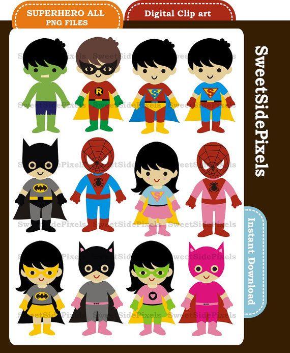 superhero - digital clip art