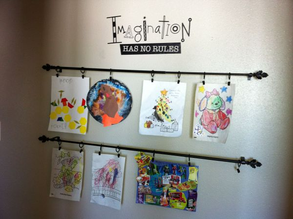 Children's Art Display