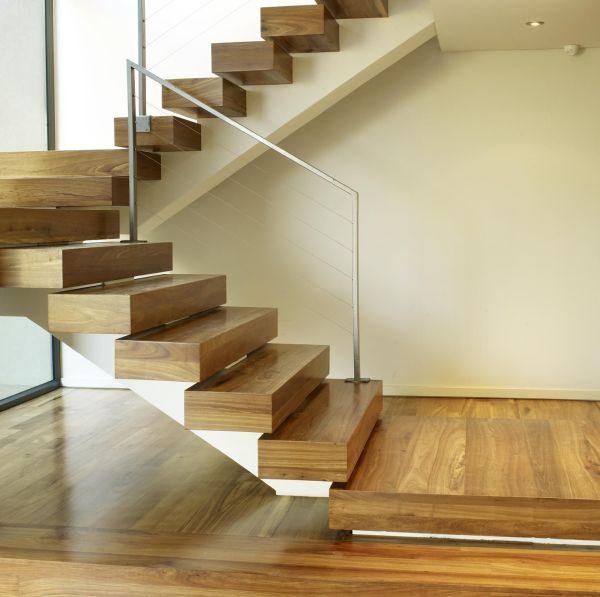 Floating Wood Stair Designs