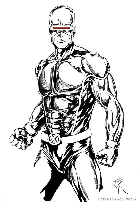 XMEN Cyclops danger sketch by jonrosscomics.deviantart.com