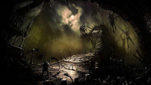Horror Artwork. Talk Dark Landscape Fantasy