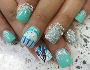 21st birthday nails precious