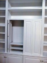 tv cabinets with bifold pocket doors - Google Search ...