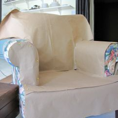Simple Diy Chair Covers Supreme Revolving Price List Goodbye House Hello Home Blog Armchair And Ottoman