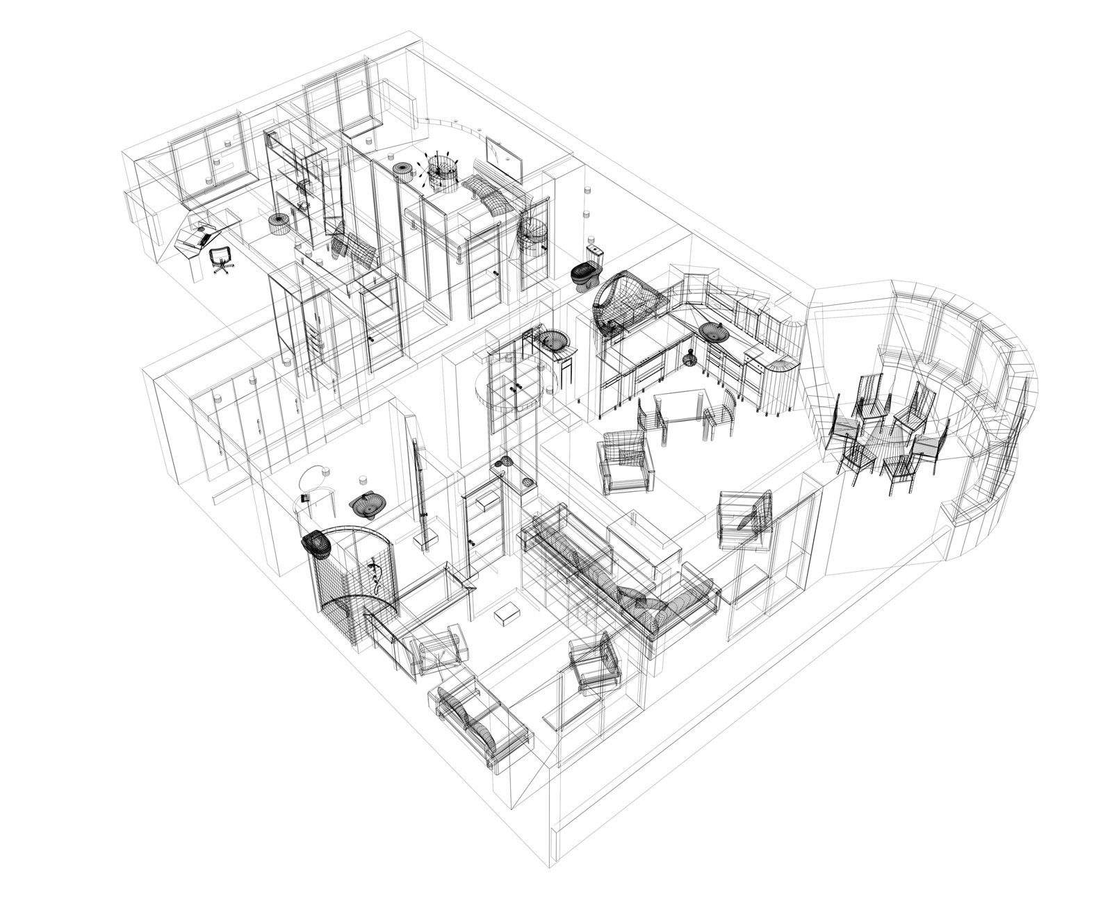 Good 3d Building Scheme And Floor Plans Ideas For House