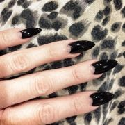 black moon nails halloween