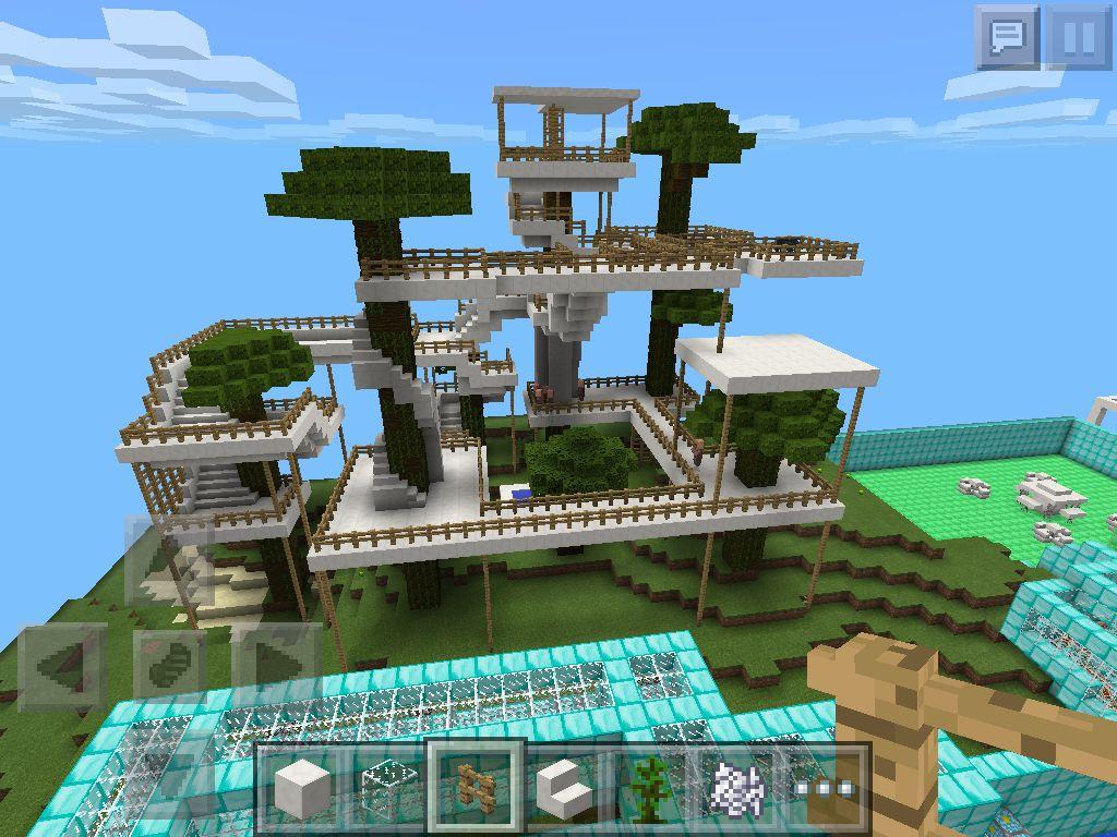 Minecraft Treehouse Minecraft Pinterest Treehouse Minecraft