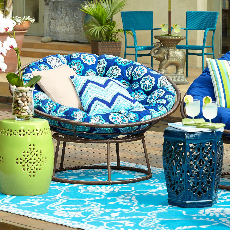 Outdoor Mocha Papasan Chair Frame  Papasan cushion