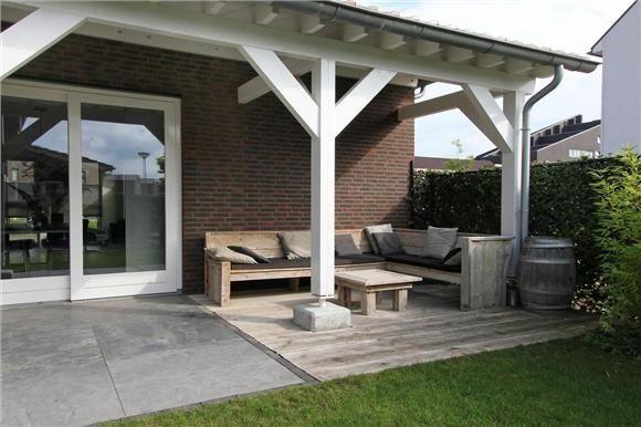 terrasse couverte en bois  Maison brando  Pinterest  Verandas Pergolas and Porch