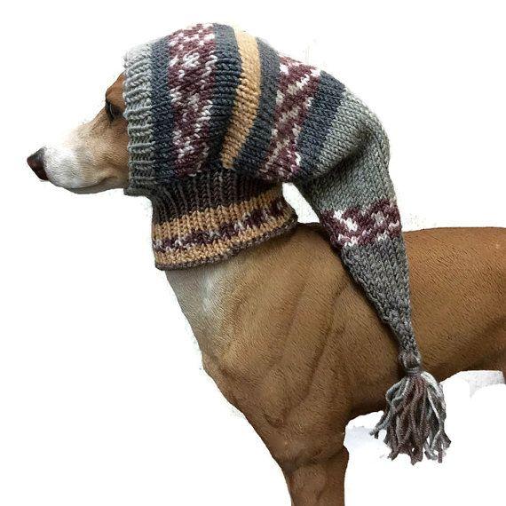 Sage green greyhound snood, dog hat, italian greyhound hat