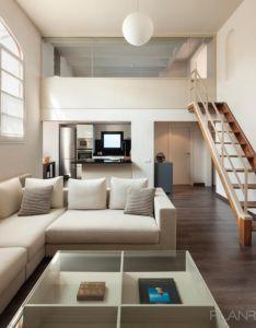 Room also cocina salon escalera estilo moderno color beige marron rh pinterest