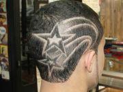 hairtatto star design hairtattoo