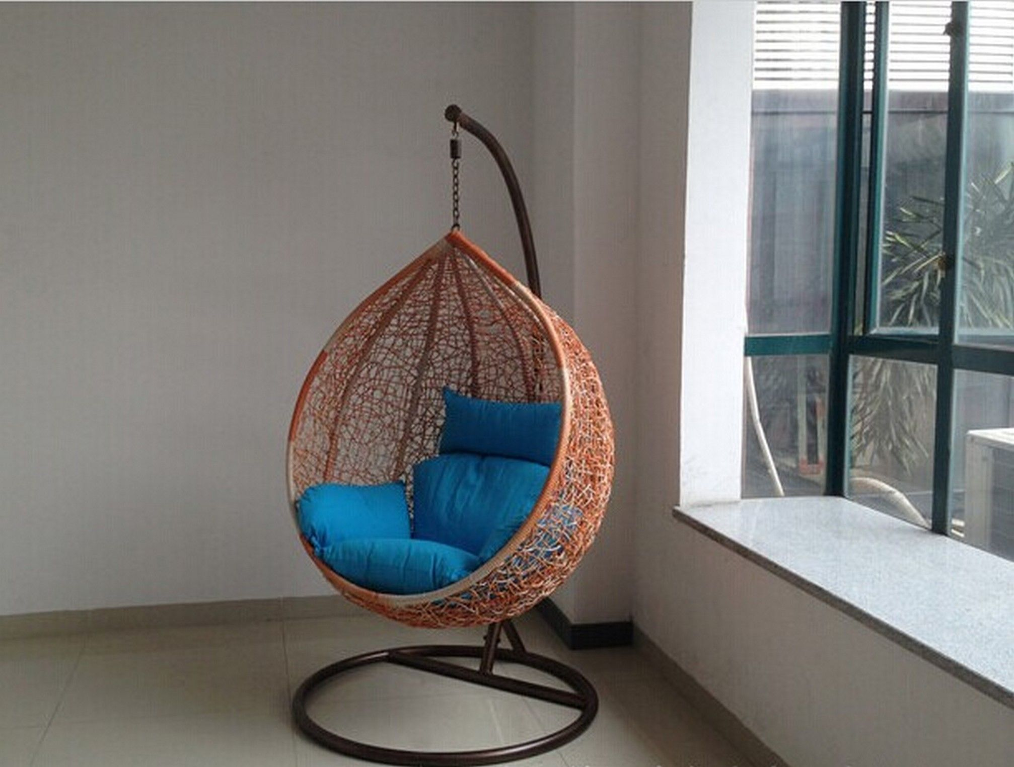 indoor hanging chair with stand pottery barn office chairs pin by georgia mathews on garden pinterest