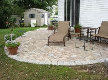 Concrete Paver Patio Design Installation Cost Great Ideas