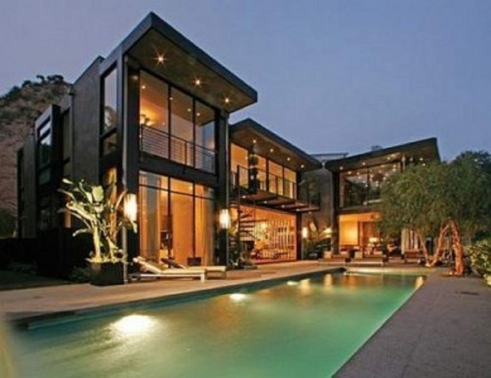 Modern House Architecture With Large Windows Minimalist