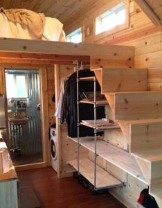 Cedar lap tiny home  square feet on wheels with wet bath and composting toilet in nampa idaho built by idahomes tinyhouseswoon also tree houses homes  more pinterest rh